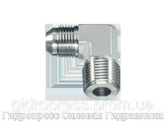 Угловое резьбовое соединение 90° адаптер, с отбортовкой, Нержавеющая сталь Rubrik 6.21