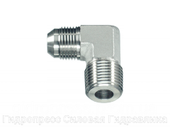 Угловое резьбовое соединение 90° адаптер, с отбортовкой, Нержавеющая сталь Rubrik 6.20