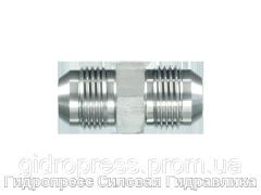 Адаптер прямой JIC-37°, с отбортовкой, Нержавеющая сталь Rubrik 6.7