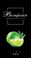 Носовые платки Bonjour (аромат лайм)