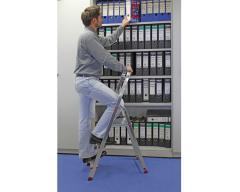 Unilateral step-ladder of Corda KRAUSE 3 steps