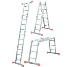 Hinged stepladder KRAUSE MultiMatic 4x3 stages