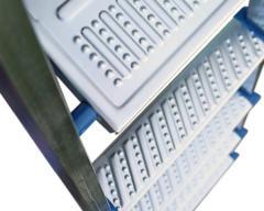 Galvanized steel ladder VIRASTAR 9 steps