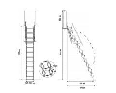 Чердачная лестница SVELT HARMONICA 70X70
