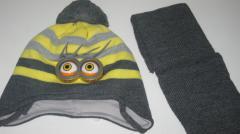 Детский комплект - шапка и шарф для...