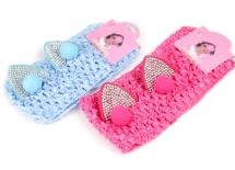 Повязка детская, 2-а цвета, голубая/розовая, 1-123593