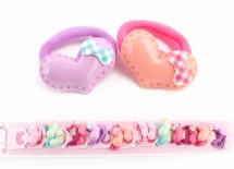 Резинка детская с сердечком в уп. 20 шт. 1-114058