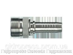 Ниппель S - тяжелая серия - внешняя метрическая резьба - угол уплотнения 24°, Нержавеющая сталь Rubrik 2.43