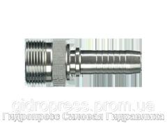 Ниппель L – легкая серия - внешняя метрическая резьба - угол уплотнения 24°, Нержавеющая сталь Rubrik 2.42