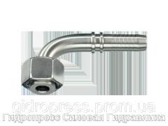 Ниппель - плоское уплотнение Гаечная резьба BSP (DRF) – yгловые соединения 90°, Нержавеющая сталь Rubrik 2.36