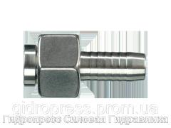 Ниппель - плоское уплотнение Гаечная резьба BSP (DRF) – прямые соединения, Нержавеющая сталь Rubrik 2.35