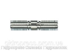 Двойной шланговый ниппель, Нержавеющая сталь Rubrik 2.48