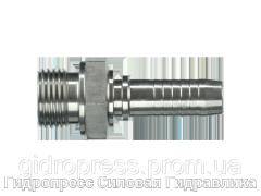 Ниппель Внешняя резьба BSP - внутренний конус 60° (AGR), Нержавеющая сталь Rubrik 2.44