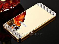 Роскошный чехол-зеркало с алмазами для Samsung