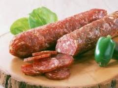 Raw smoked sausages