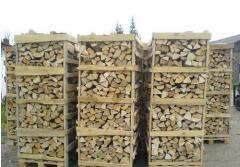 Firewood in pallets, oak firewood, birch firewood,