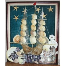 Panel from cockleshells wholesale from the