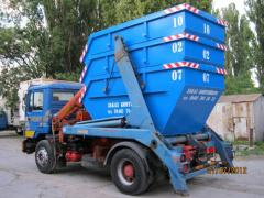 Containers for building wastes