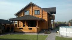 Дома деревянные. Дома из оцилиндрованного сруба