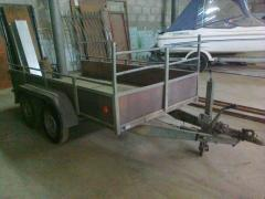 The trailer two-axis HAPERT K-2000 Loading