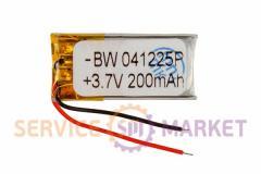 Литий-полимерный аккумулятор BW 041225P 3,7V 200 mAh 11x26mm