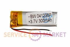Литий-полимерный аккумулятор BW 041235P 3,7V 300 mAh 11x35mm