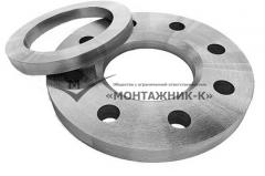 Flanges steel free on a welded ring