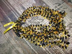 Amber beads of handwork