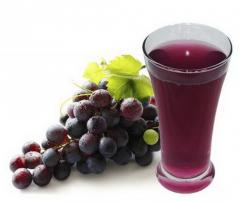 The concentrated juice of red grapes