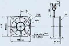 Вентилятор 1.0ЭВ-1.4-4-3270 Т4