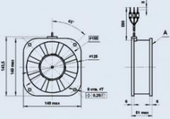 Вентилятор 1.25ЭВ-2.8-6-3270 Т4