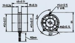Вентилятор 2ДВО-0, 7.60-366-4