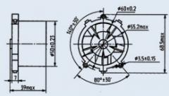 Вентилятор ДВО-0.5-400
