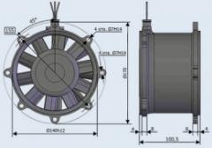 Вентилятор ЭВ-11-3660 400Гц
