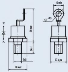 Диод быстровосстанавливающийся ДЧ132-50-12