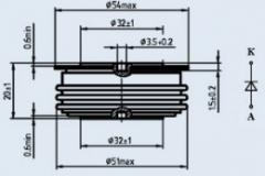 Диод быстровосстанавливающийся ДЧ133-320-16