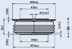 Диод быстровосстанавливающийся ДЧ143-1000-16