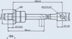Диод быстровосстанавливающийся ДЧ161-160-12