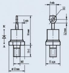 Диод лавинный 2ДЛ112-25-6
