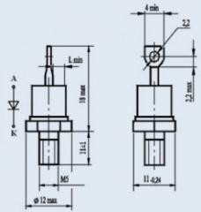 Диод низкочастотный 2Д112-10Х-10