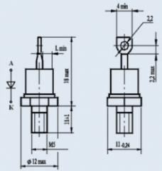 Диод низкочастотный 2Д112-25Х-16