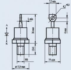 Диод низкочастотный Д122-40Х-6