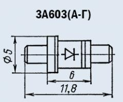 Microwave oven 3A603A diode