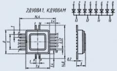Диодная матрица 2Д908А-1