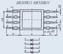 Diode assembly 2DS523V