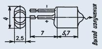 Излучающий диод ИК диапазона 3Л108А-1