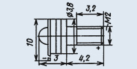 Излучающий диод ИК диапазона АЛ119А