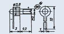 Излучающий диод ИК диапазона АЛ123А