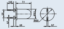 Излучающий диод ИК диапазона АЛ145А