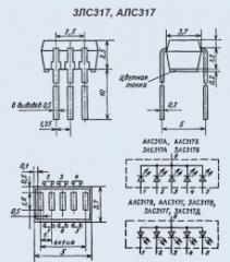 Индикатор знакосинтезирующий 3ЛС317Д